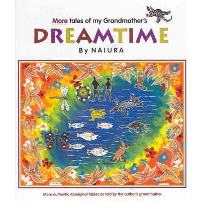 Short dreamtime stories, one per page with dot paintings.