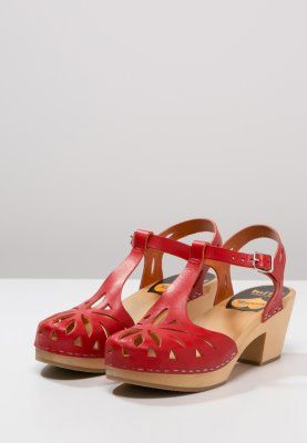 Swedish hasbeens - Clogs - red
