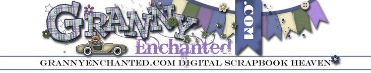GRANNY ENCHANTED'S BLOG - spettacolari sfondi grafici per scrapbook e altro!
