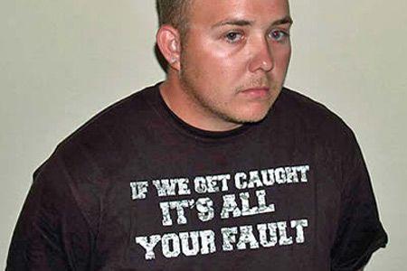 15 Most Unfortunate T-shirts for a Mugshot (T-shirt Mugshot, Mugshots, Funny Mugshot T-shirts, Funny Mugshot) - ODDEE