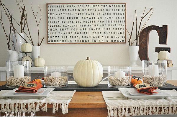 DIY Chalkboard Table Runner - Lizmarieblog.com