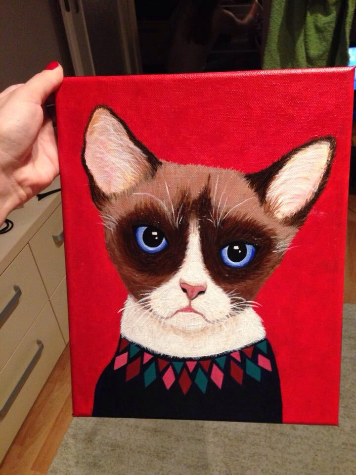 Kiss kiss cats cats #Grumpycat