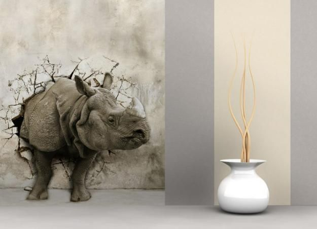 Okay, this is just totally badass! modern wall decoration with photo wallpaper