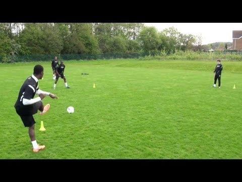 How to improve passing | Soccer passing drill | Nike Academy - YouTube