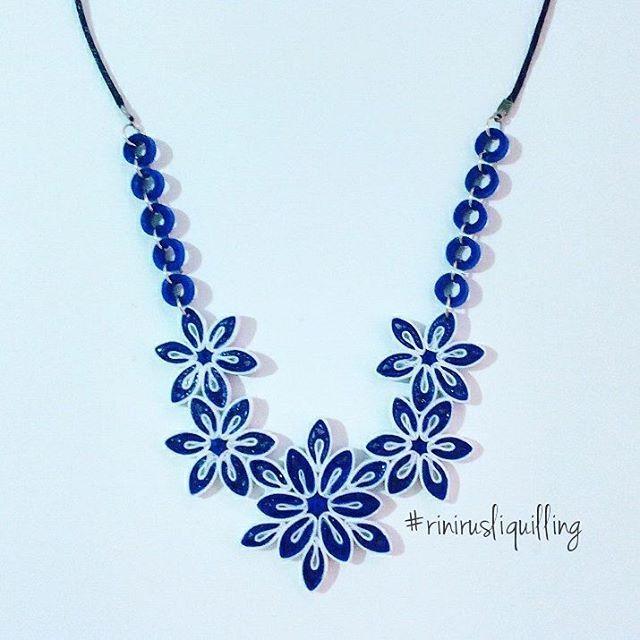Quilling necklace  #rinirusliquilling #necklace #handmade
