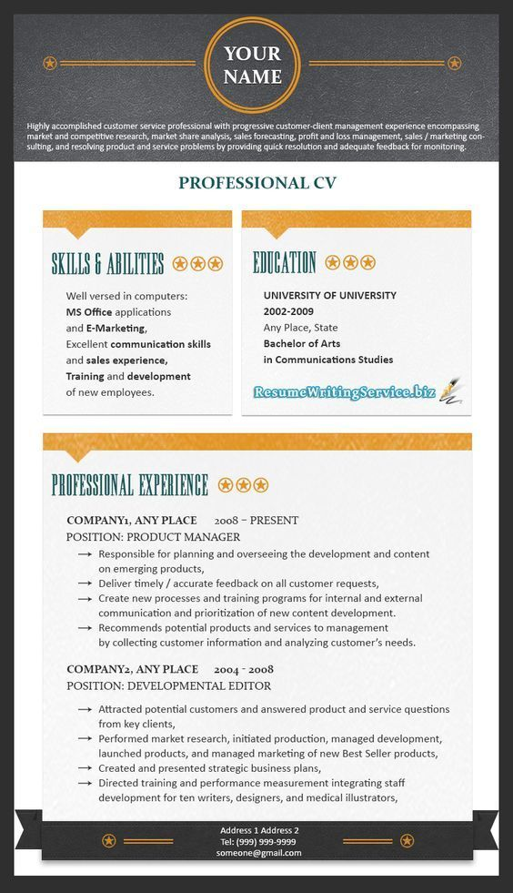 Hello, good day Are in need of a standout resume Here is a Free Tip