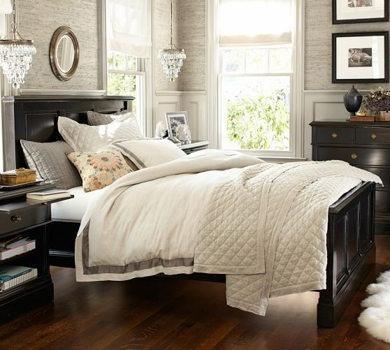 branford bed pottery barn love this room nice wall moulding and