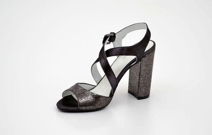 Sandale damă elegante negre din piele naturală - Femei / Sandale elegante - GiAnni