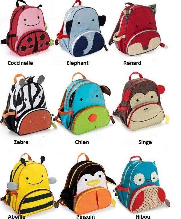 sac a dos cartable enfant zoo animaux 9 modeles au choix neuf port gratuit 0 motxilles bosses
