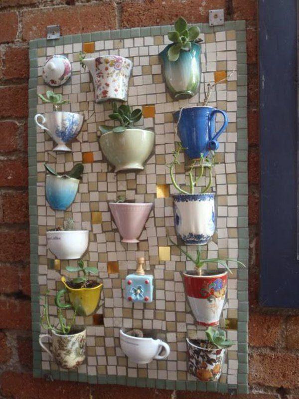 teetassen mosaik basteln anleitung mosaiksteine