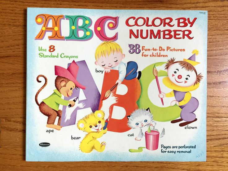 Rare Whitman ABC Color By Number Coloring Book 1963 Vintage Childrens Activity AttysSproutVintage