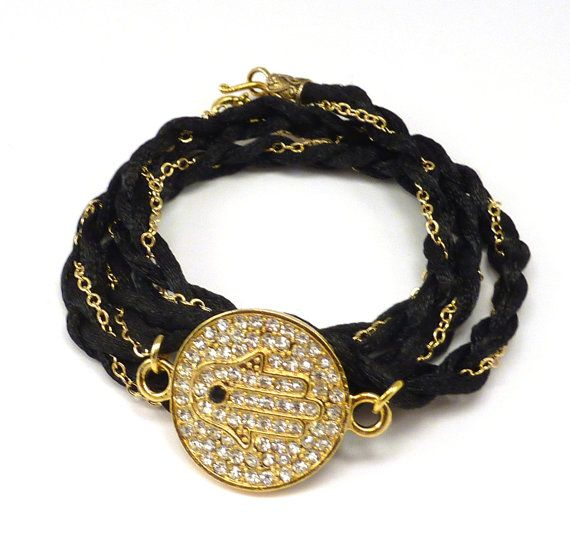 Exclusive Oscar Wrap Bracelet with Hamsa por charmeddesign1012
