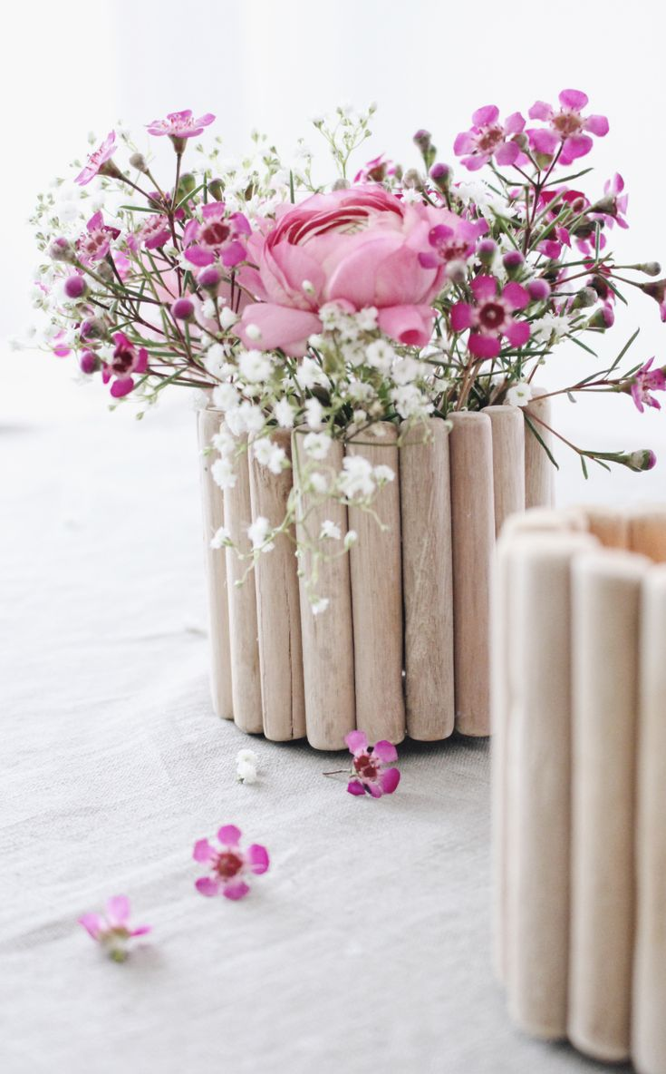 diy vase aus holz selber machen - Kopfteil Plant Holzbearbeitung