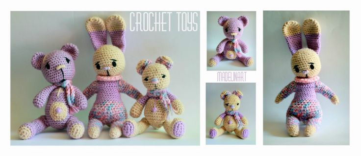 CROCHET TOYS  by madelinart
