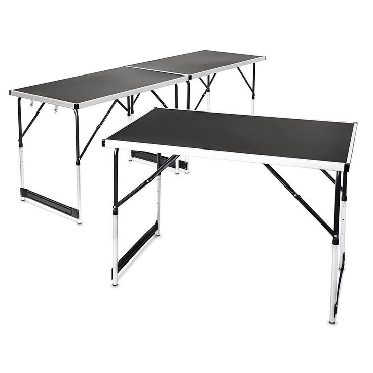 Set Of 3 Tables Aluminum Multi Hinged Free Combine Folding Portable Picnic Table