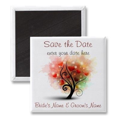 Heart Tree Save the Date Magnet  $3.05
