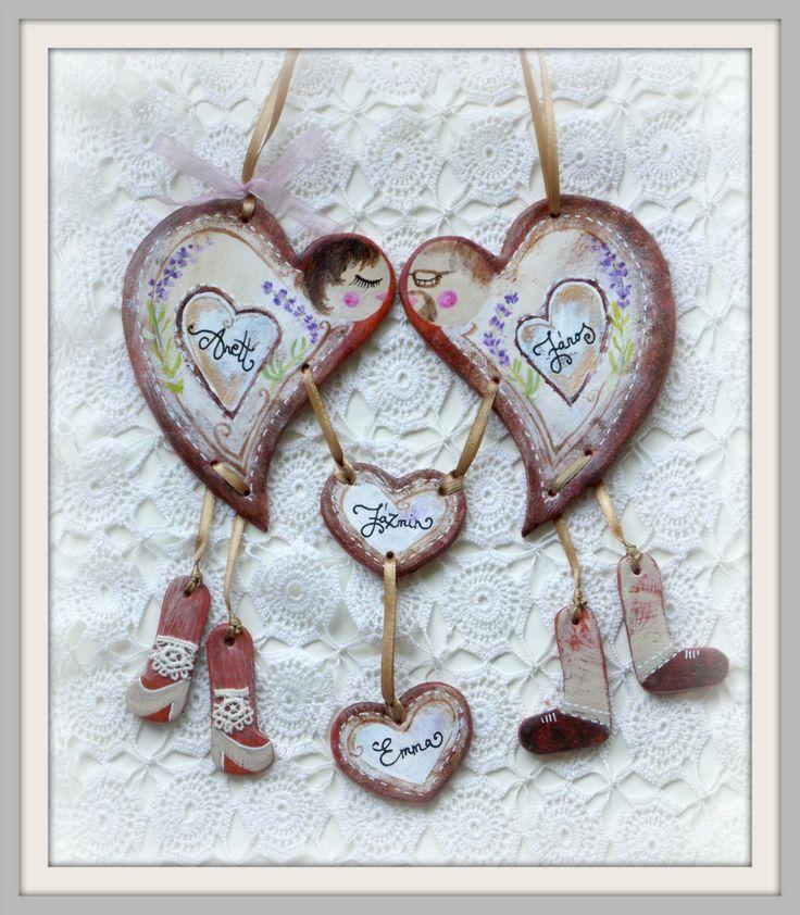 Heartfamily - lavender  (terrakotta)