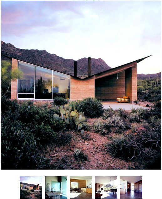 Rammed Earth House With Butterfly Roof   Google Search