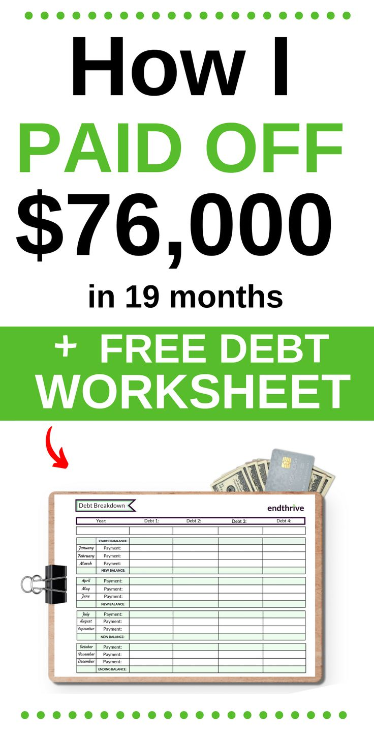 How I Paid Off $76,000 in 19 Months + Free Debt Worksheet for the Debt Snowball