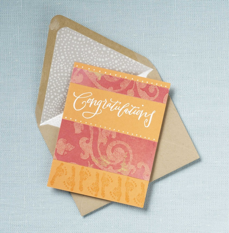 PS Charlotte sends their congratulations: Wanna Cases, Scrapbook Ideas, Charlotte Send, Handmade Cards, Paper Envelopes, Totally Wanna, Ps Charlotte, Paper Crafts, Invitations Envelopes