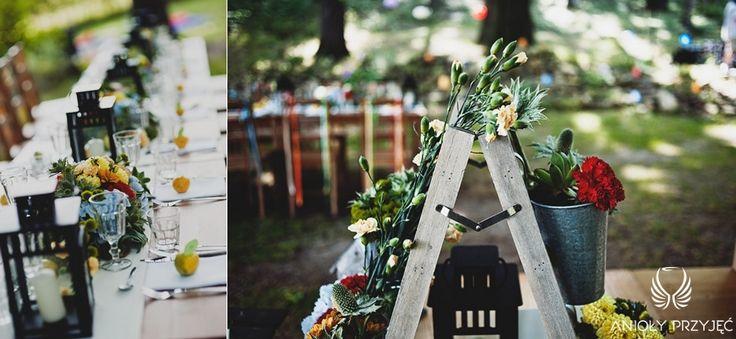 1. Forest Wedding,Outdoor reception decor,Rustic colorful decoration / Leśne wesele,Wesele w plenerze,Rustykalne Kolorowe dekoracje,Anioły Przyjęć
