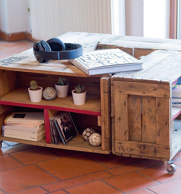 Alles Paletti - Wohnzimmertisch aus Paletten #DIY