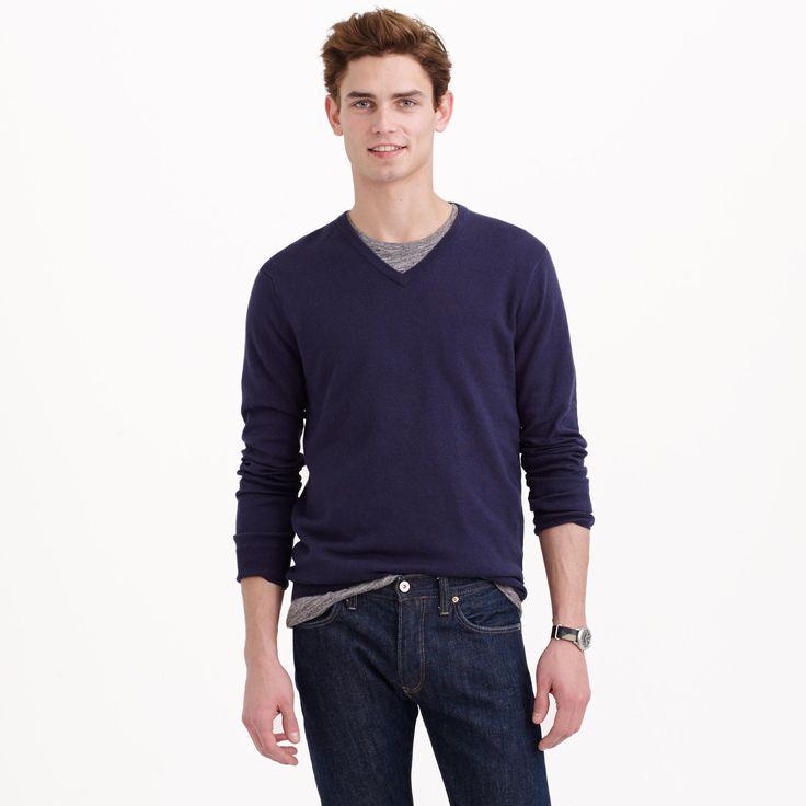 Cotton-cashmere V-neck sweater : cotton-cashmere   J.Crew