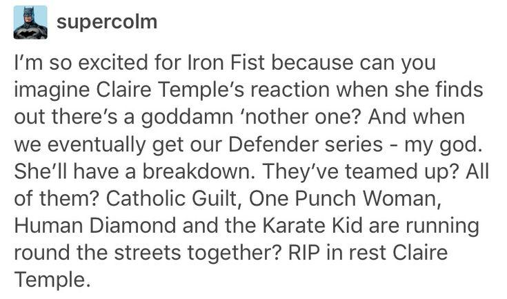 Claire Temple, Night Nurse, Danny Rand, Iron Fist, Matt Murdock, daredevil, Jessica Jones, jewel, Luke Cage, power man, marvel, mcu, avengers, the defenders