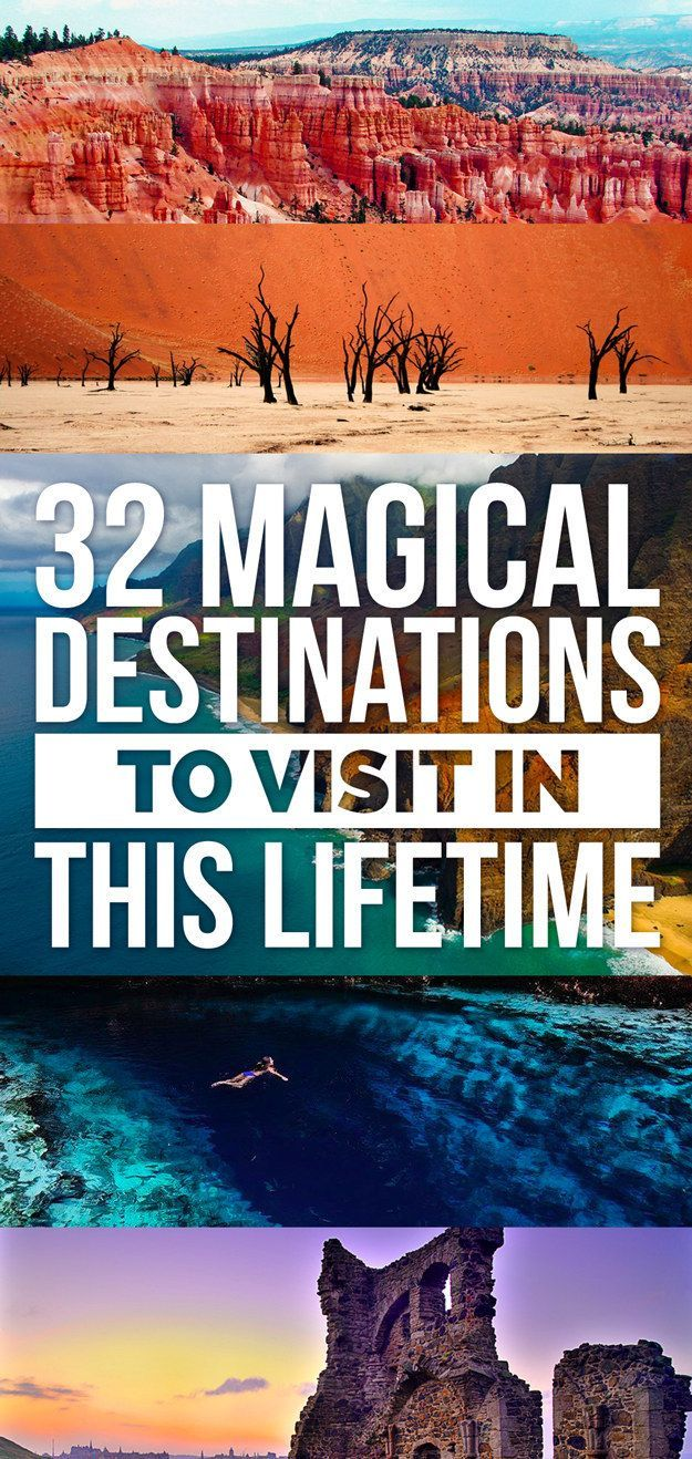 Gah - too many places to see! 32 Magical Destinations To Visit In This Lifetime #travel