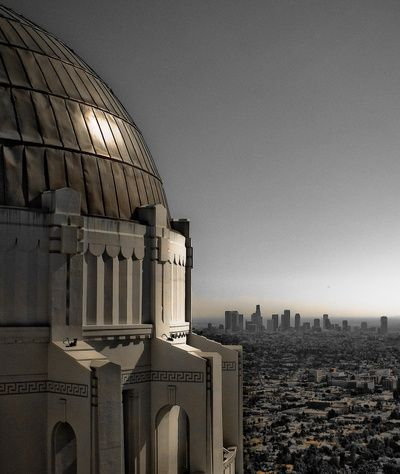 Griffith Park Observatory with Los Angeles Skyline @Society6