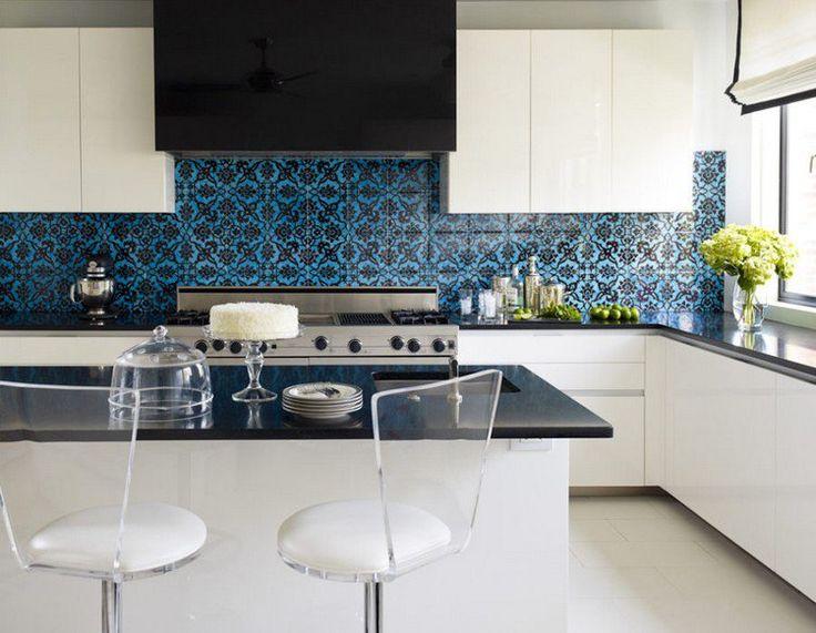 Les Meilleures Idées De La Catégorie Cuisines Bleu Foncé Sur - Carrelage bleu pour idees de deco de cuisine