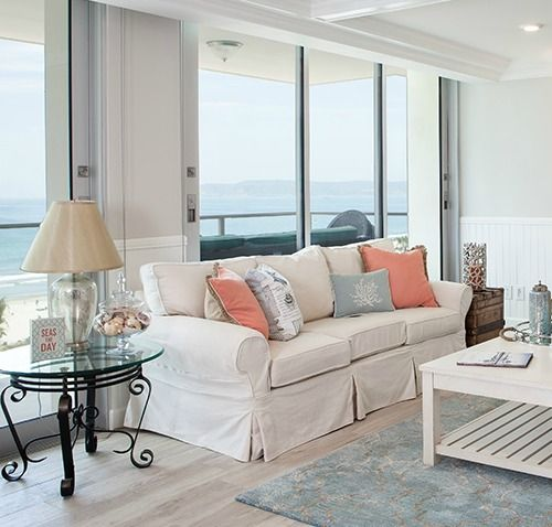 Beach Condo Remodel | Chic Cottage Style - Take the tour on Completely Coastal: http://www.completely-coastal.com/2016/08/beach-condo-remodel-cottage-style.html