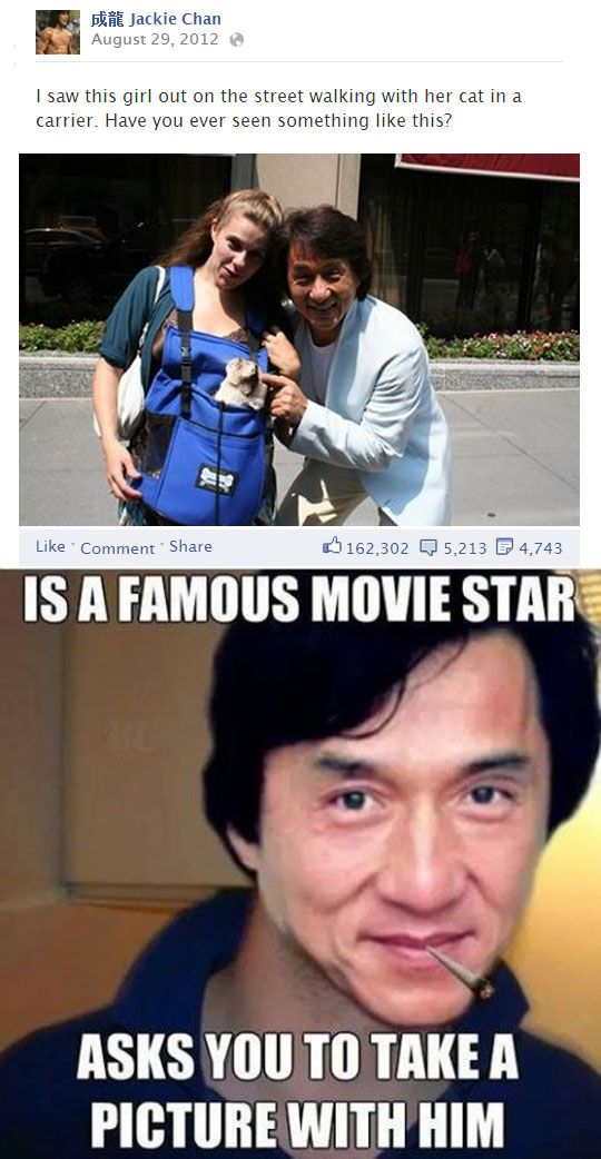 Jackie Chan takes all his own pictures  - funny pictures #funnypictures