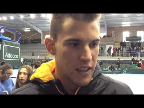 Davis Cup, Tag 3: Portugal - Österreich, Dominic Thiem im Videointerview - YouTube
