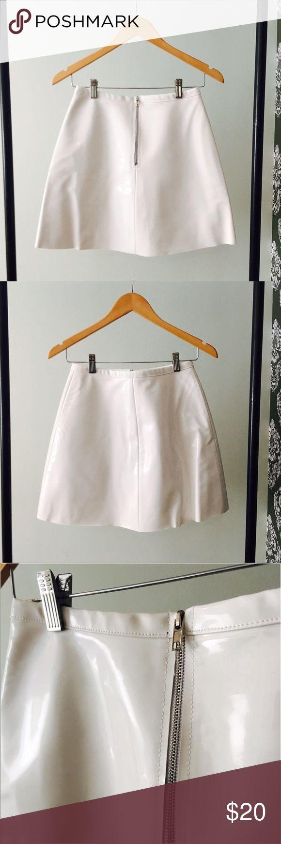 American Apparel White vinyl skirt American Apparel Skirts Mini