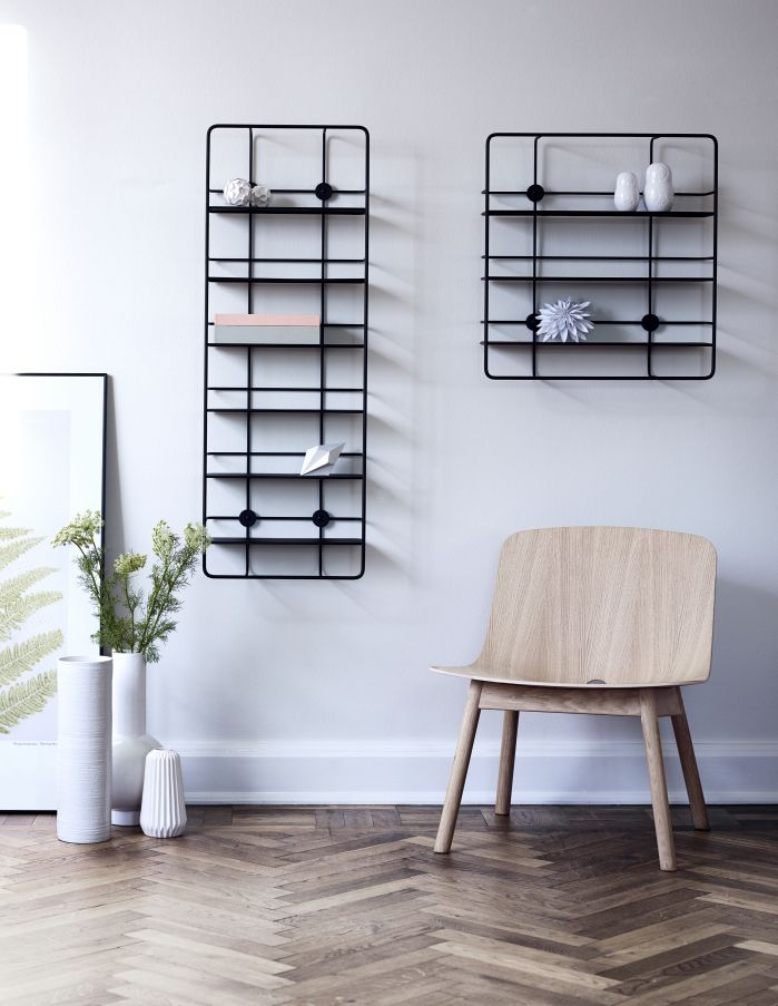 Coupe shelves designed by Poiat for Woud
