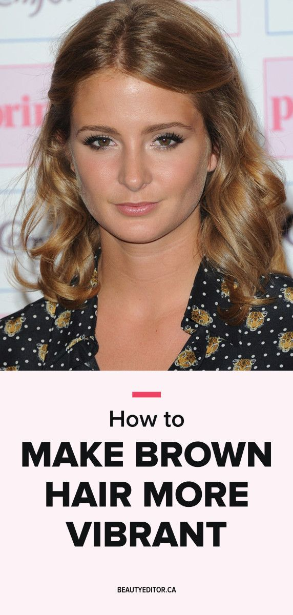 How to make brown hair more vibrant.