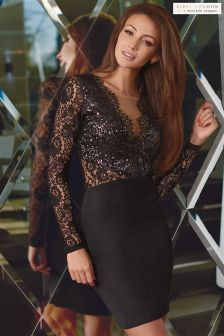 Michelle Keegan Lace And Sequin Bodycon Dress