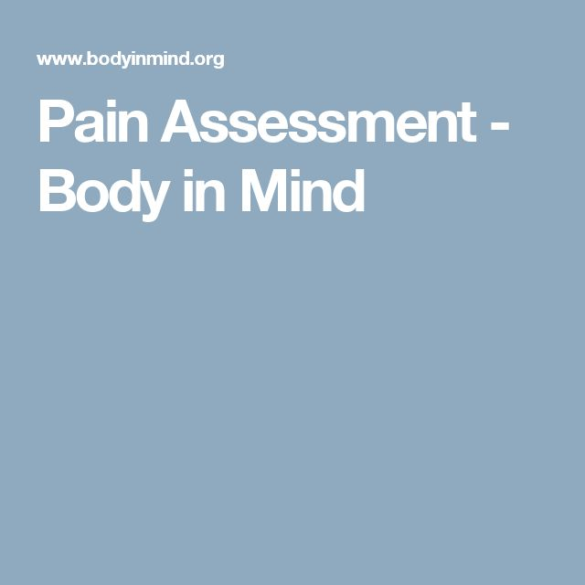 Pain Assessment - Body in Mind