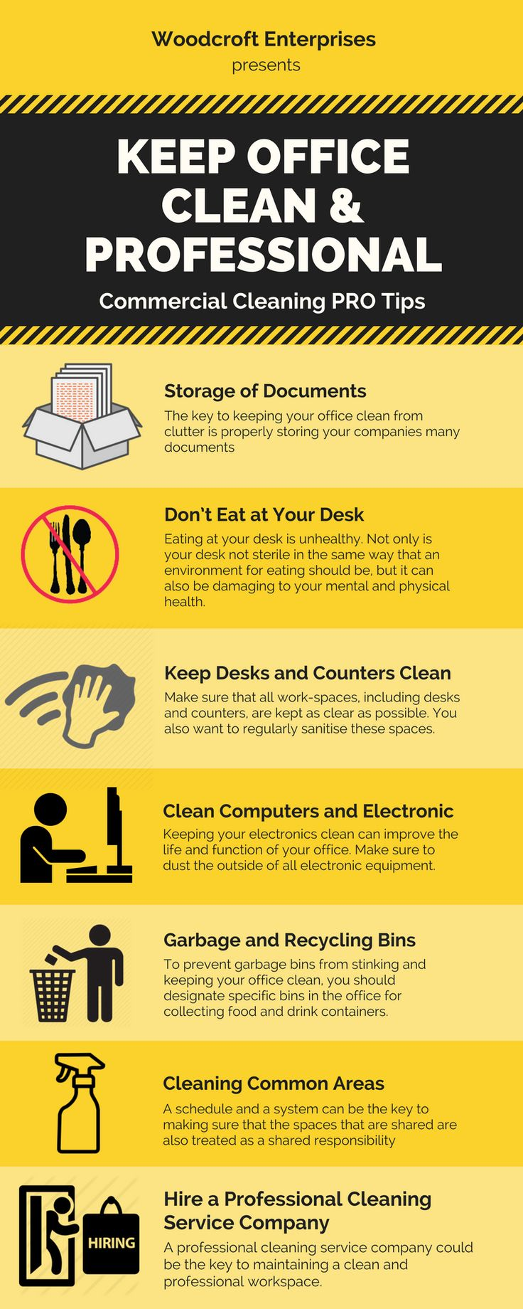 Basic commercial cleaning tips that will help to keep your office neat & clean. It would be recommended if you want to enjoy clean surrounding in office. Otherwise you can hire a professional cleaning service