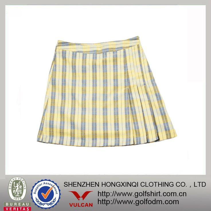 #golf skirts, #cotton golf skirts, #plaid cotton golf skirts