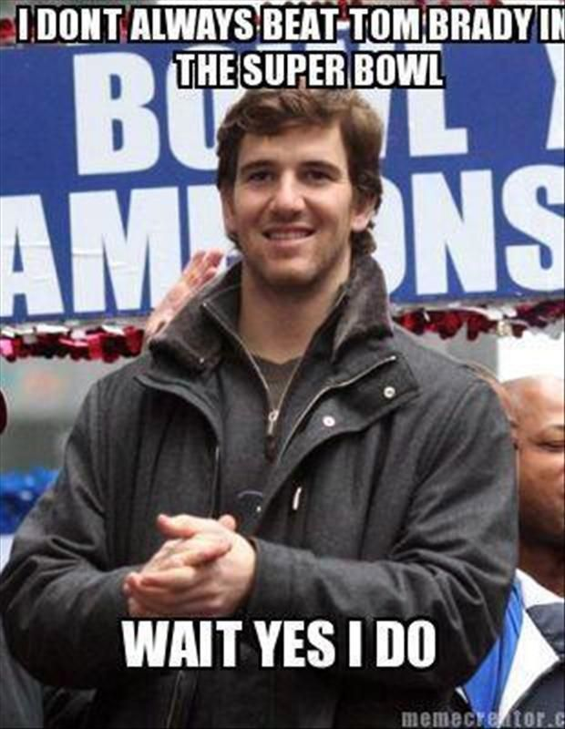 Funny picture of Eli Manning and Tom Brady.