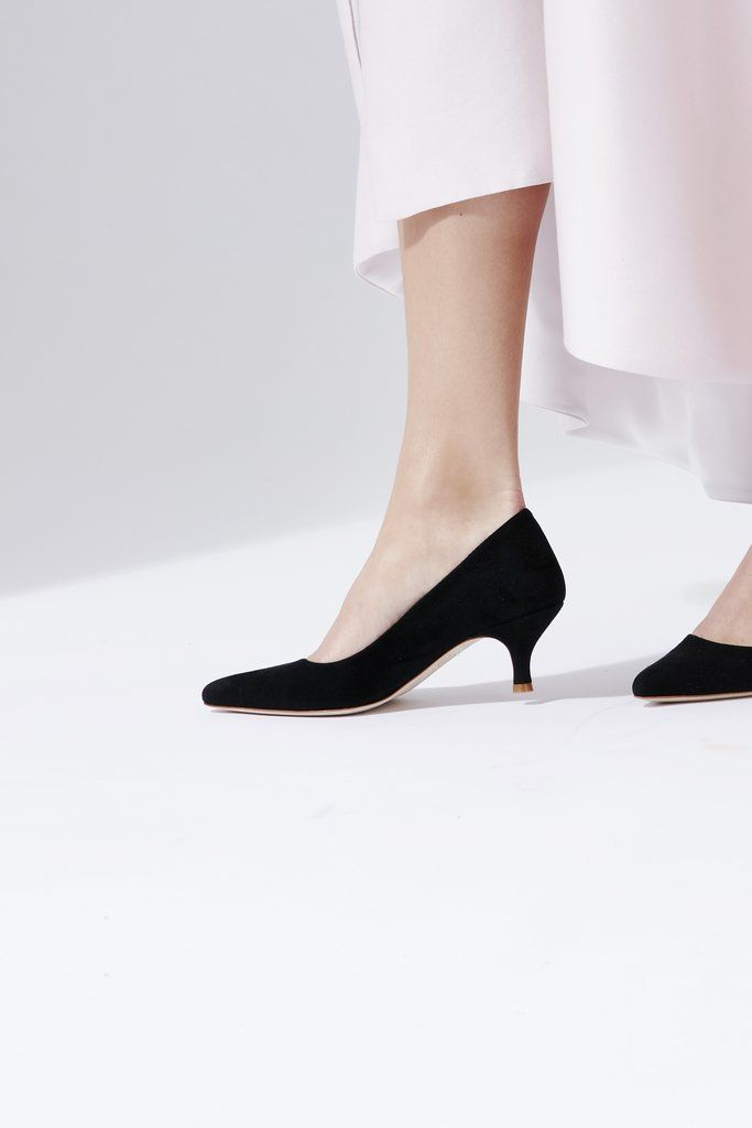 4ec2a0f25 An elegant pointed occasion court shoe in a jet black kid suede. This style  is