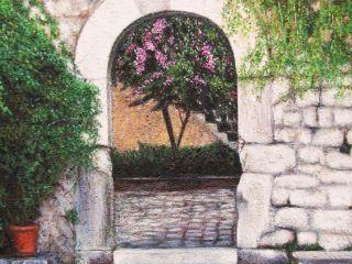 Ston (Dalmazia); Olio e sabbia su tela; 70×50