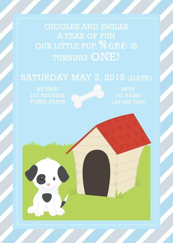 Best 25 Dog first birthday ideas – Puppy Dog Birthday Invitations