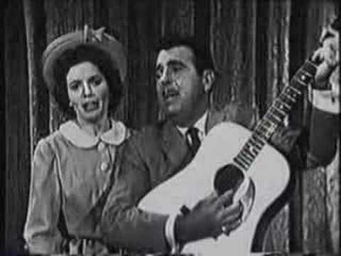 """Tennessee Ernie Ford and June Carter - Together!  """"The Ford Show Starring Tennessee Ernie Ford""""."""
