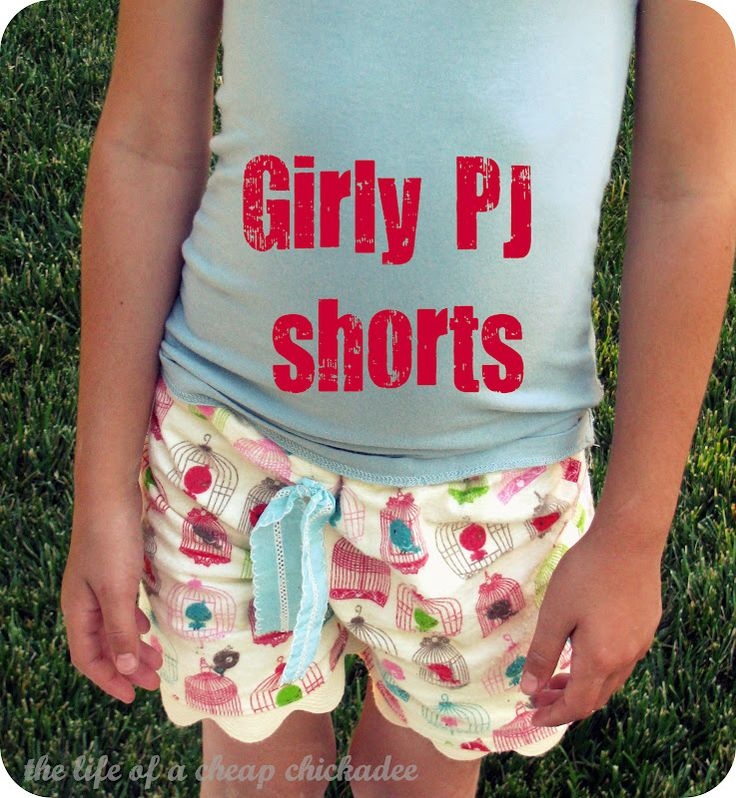 The Life of a Cheap Chickadee: Girly PJ Shorts Tutorial and Tricks For Hemming With Ric Rac!