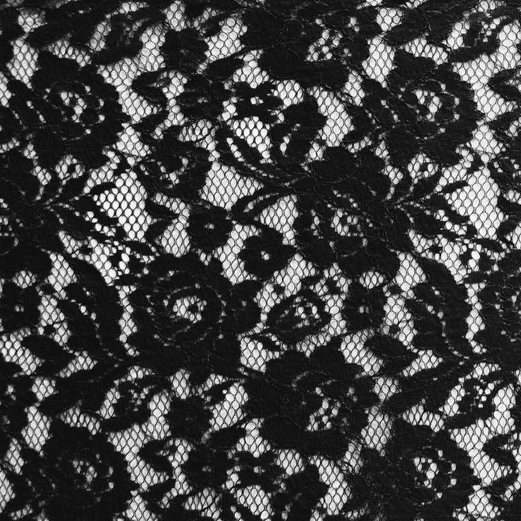 Tela con base de blonda de Nylon de color negro, ornamentada con un hilo de viscosa que perfila el dibujo. Encaje de blonda ideal para combinar con Crepes Satinadas y Crepes para la confección de trajes de ceremonia, trajes de Sevillana y aplicaciones. http://www.aleko.kingeshop.com/Blonda-Lace-Flor-Rebrode-dbaaaajKa.asp