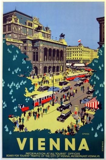 vintage travel poster austria - Vienna
