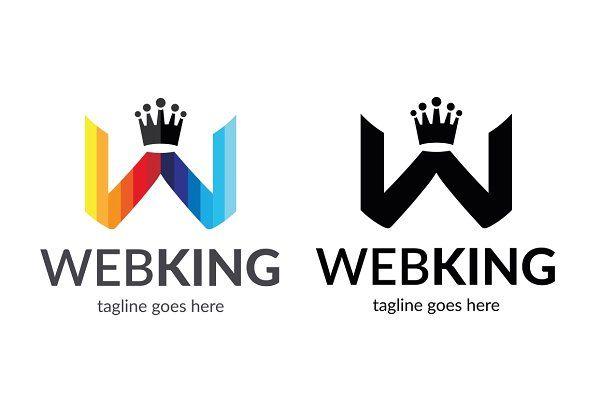 Web King (Letter W) Logo by tkent on @creativemarket